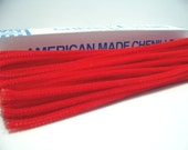 """120  Chenille Stems Red and White 12"""" American Made Stems"""