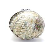Cream / Salmon/ Green / Silver / Teal / Violet  Paua Shell Minaudiere / Evening Clutch Bag
