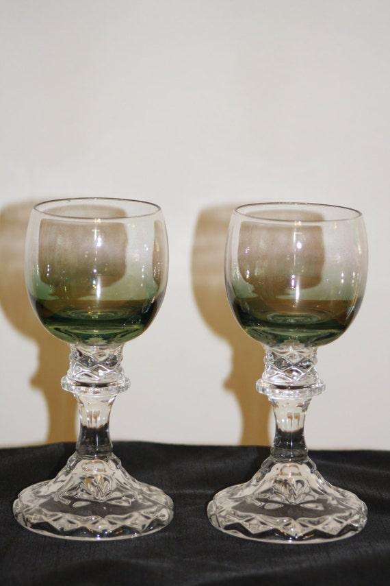 Decorative Wine Glasses Green