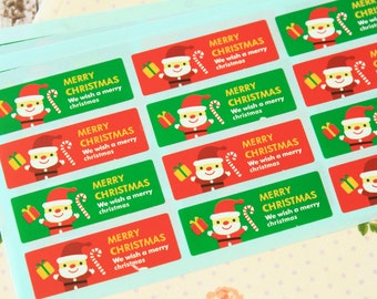Little Santa Mini Cartoon Christmas sticker seals gift wrapping craft stickers