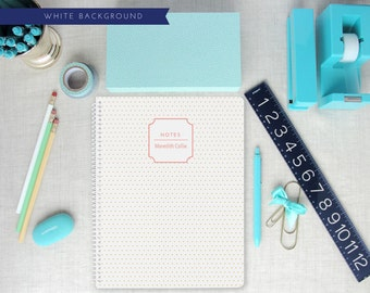 Personalized Spiral Notebook | Swiss Dot Pattern | Monogram | Custom Colors