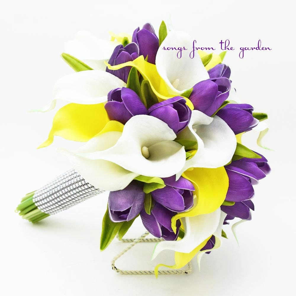 Amazing Images Of Purple And Yellow Flower Arrangements Best Home