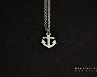 Silver or Gold Little Anchor Necklace