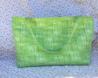 Lime Green with Polka Dot Lining Project Bag or Tote