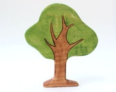 wooden toy tree, waldorf nature table, wooden toys, tree figurine, pretend play scenery