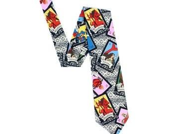 Mexican Loteria Men's tie