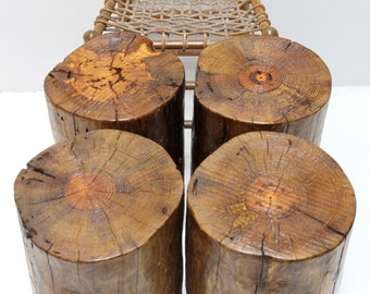 Rugged RusticTree Stump Seating Table Stool Trunk Nest End Side Weathered