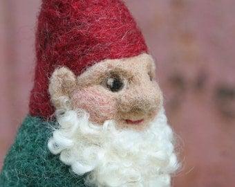 Needle Felted Gnome / Needle Felted Santa