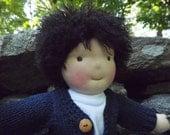 """Waldorf Doll Boy, Handmade Waldorf Doll, Cloth Doll, Rag Doll, 16"""" Doll, Cotton and Wool Doll, Doll for Boys."""
