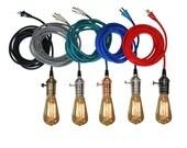 Plug In Pendant Light 15ft - 5 Color choices Includes Edison Bulb Modern Hanging Light- Industrial Light Vintage Lighting Antique Lights