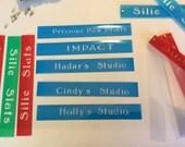 Studio Slats 5 sets - custom cover with your studio's name