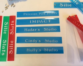 Studio Slats 5 sets - custom cover with your studio's name