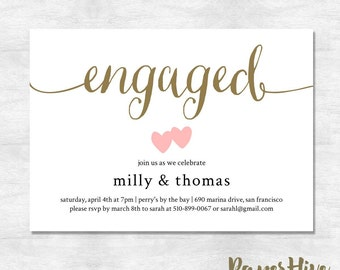 engagement invites  etsy, Party invitations