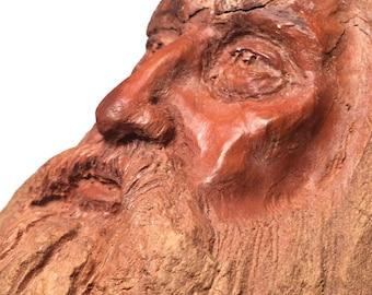 Woodland Vision Rick Cain Original Wall Hanging Cypress Sculpture Wood Carving