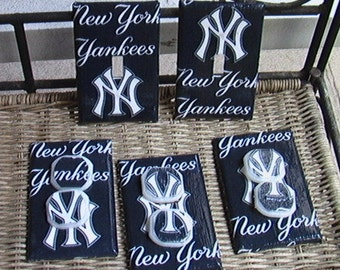 New York Yankees Light Switch Plates Outlet Covers or Knobs