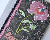 PERSONALIZED Composition Book - Grey Pink Flower