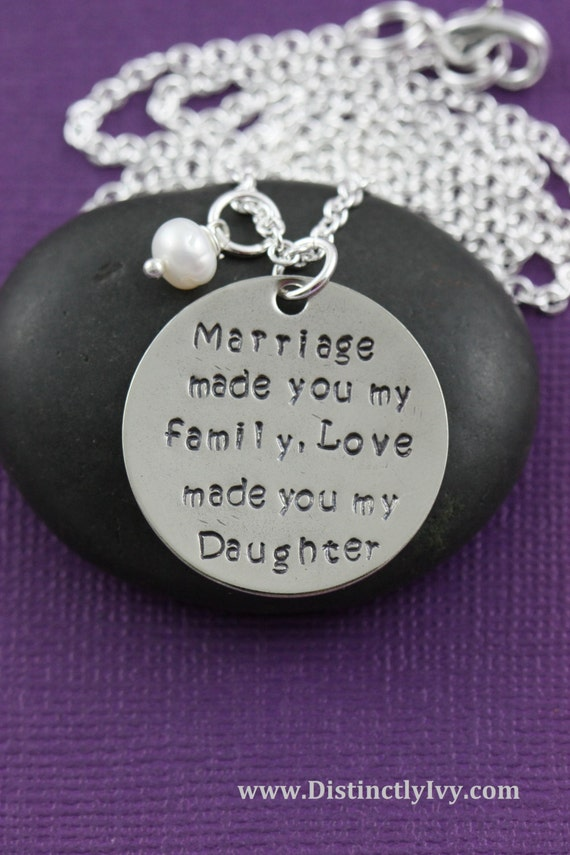 Gift Ideas For My Daughter In Law On Her Wedding Day : SALE - Gift for Daughter in Law - Marriage Made You My Family, Love ...
