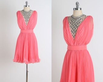 Jack Bryan . vintage 1960s dress . vintage party dress . 4872