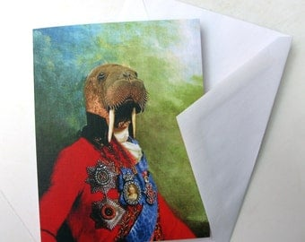 Sir Odobenus Rosmarus - Note Card