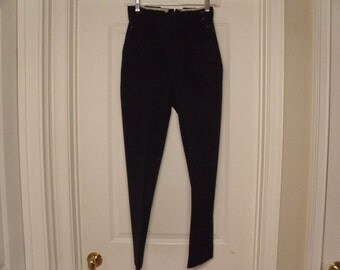 Vintage  1950's/1960's Black Riding Pants  Small/Extra Small