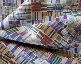 Liberty of London Art Fabrics Tana Lawn Cotton Sam Plaid Patchwork Print