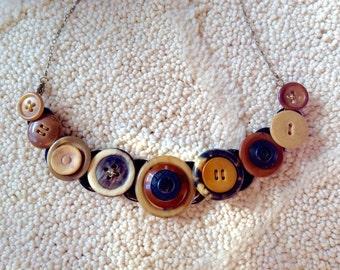 Horn Rim button necklace