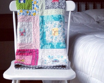 Custom Vintage Style Calico Block Quilt