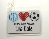 Personalized Soccer Bag Tag Soccer Mom Gift Soccer Team Gift Soccer Party Favor Personalized Tag Custom Soccer Bag Tag