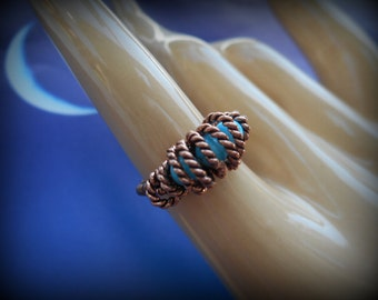 Copper Ring -  Stretchy - Totally Twisted!