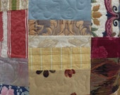 Cushion/pillow cover, patchwork, quilted, vintage, recycled