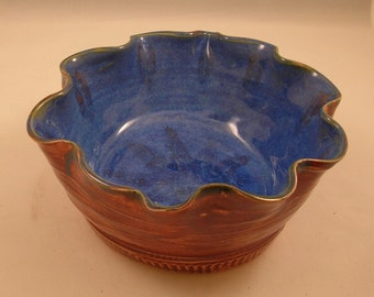 Serving Bowl with Fluted edges, an homage to Sea and Sand