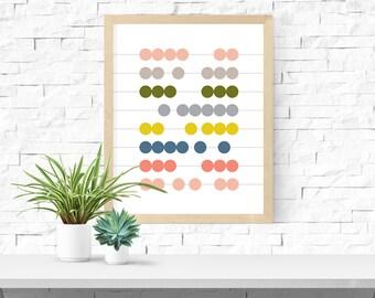 Abacus Print - Mixtape Palette