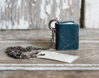 Book Necklace: Lagoon by Peg and Awl