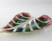Philodendron hastatum Leaf Fused Glass Dish