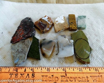 Small 1 Cab Lapidary Slabs And Small Random Cuts #30