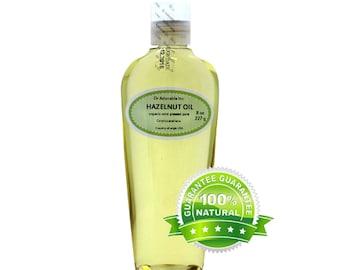 8 oz Hazelnut Oil Pure & Organic Cold Pressed