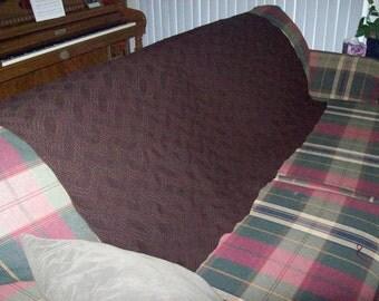 Knitted Brown Afghan, Knitted Brown Blanket, Tuck Stitch Knitted Blanket, Knitted Brown Throw, Back to School Dorm Blanket