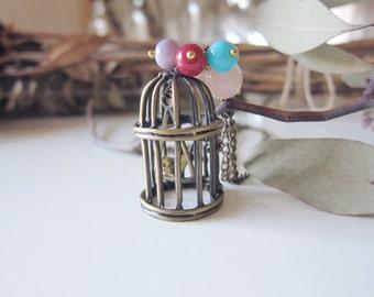 Tweedy Bird - Brass Bird Necklace