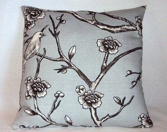 18x18  Robert Allen Vintage Blossom Dove Decorative Pillow Cover - Purchase With Or Without Pillow Form