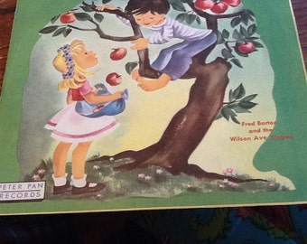 Vintage Record 45 rpm Apple Tree Children Kids Songs Fred Borton
