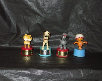 LOT Four Vintage KOHNER Push Puppet Toys Atom Ant Paulette and MORE