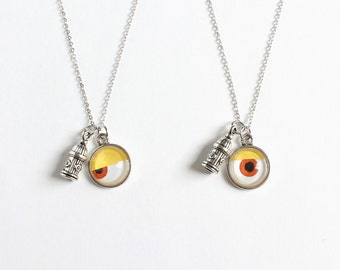 One-eye and Hydrant Charm Necklace