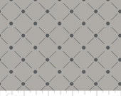 Zoey from Camelot Fabrics - Full or Half Yard Lattice in Zinc - Modern Gray Grid Fabric