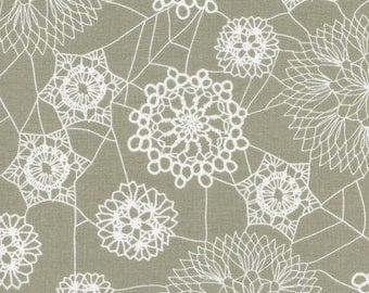 Spellbound Doily Web Grey from Cotton and Steel - Full or Half Yard Doily Spider Webs Halloween