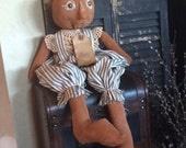 Handmade Primitive Pumpkin Doll