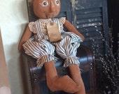 Handmade Primitive Pumpkin Doll