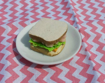 Ham and Cheese Sandwich for American Girl or other 18 inch doll, food, accessories