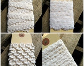 Lot of 4 Different Styles Narrow Lace Trim White