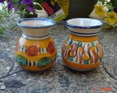 Vintage Hand Crafted Glazed Clay Pottery Vases/Vessels - Nice