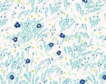 WeeWander Meandering in Seafoam 1 yard - Sarah Jane's Wee Wander by Michael Miller Fabrics